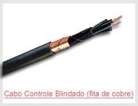 Cabo Controle Blindado (fita de cobre)