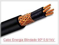 Cabo Energia Blindado 90º 0,6/1kV