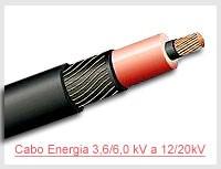 Cabo Energia 3,6/6,0 kV a 12/20kV