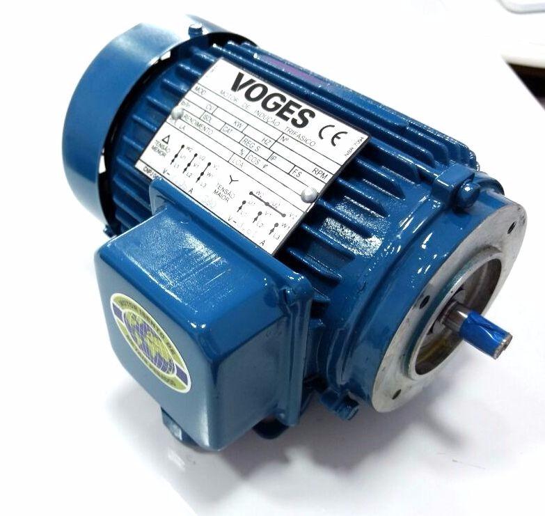 Motor De Indução 1/4 Cv Trifásico Voges B56 220v Rpm3345